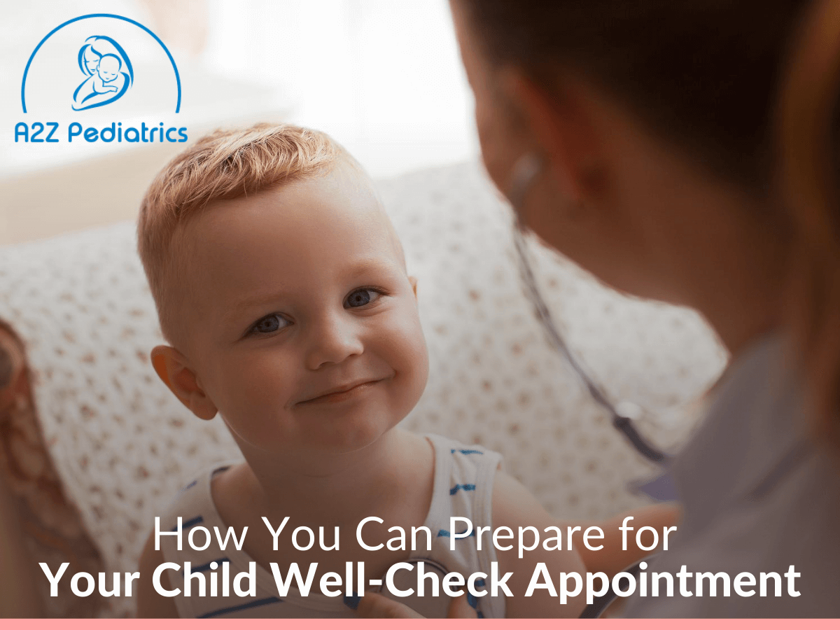 Caucasian Boy Smiling with Female Pediatrician, Ready for well-check Appointment Because Tips from A2Z Pedriatric blog